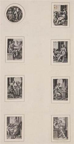 the liberal arts set of 7 by georg pencz