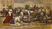 markt in krakau by johann nepomuk geller
