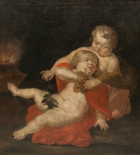 two putti as allegory of autumn by abraham van diepenbeeck