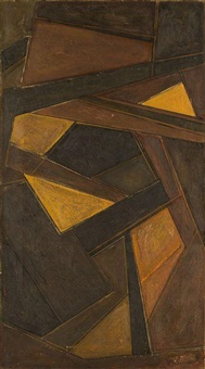abstract composition by antoine pevsner