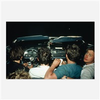 four boys in the convertible at the drive-in, nj by nan goldin