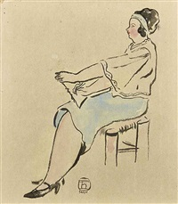 seated woman by sanyu