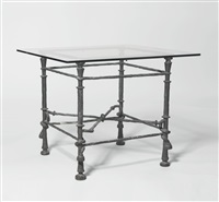 table torsade, modèle carré by diego giacometti