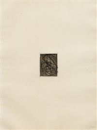 0 through 9 (from 1st etchings, 2nd state) by jasper johns