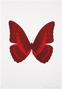 burgundy/chilli red, from the souls iii by damien hirst