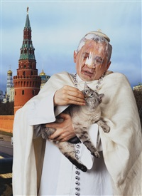 the pope and patriarch (2 works) by vladislav mamyshev-monroe