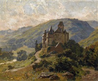 schloß bürresheim bei mayen in der eifel by carl jutz the younger