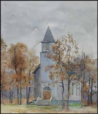 a church on the emerson highway by walter joseph phillips
