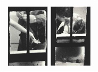 untitled #2 and #6 (from window) (2 works) by merry alpern