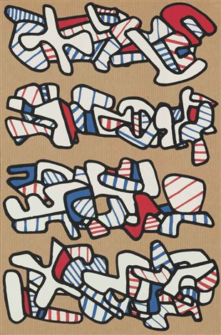 la botte á nique portfolio of 2 by jean dubuffet