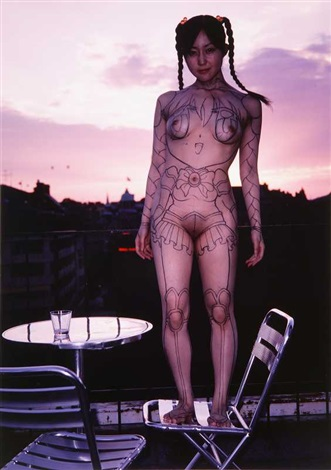 body painting with koe in stockholm ( 3works ) by makoto aida