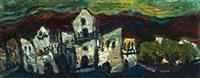 view of safed by yitzhak frenkel-frenel