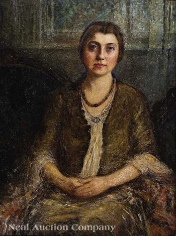 portrait of a young woman seated in an interior new orleans by helen maria turner