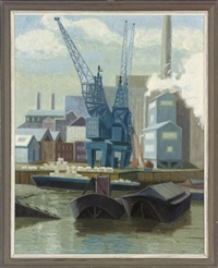 dreadnought wharf, greenwich (+ 4 others; 5 works) by anne e. christopherson