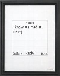 untitled text msg (karin) by adam mcewen