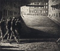 shadows on the ramp by martin lewis