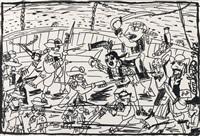 pirates contre corsaires by robert combas