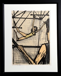 the trapeze artists by bernard buffet