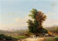 landschaft bei florenz by e. altrui