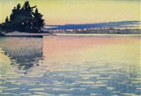 whitefish bay, lake of the woods by walter joseph phillips