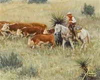cattle drive by gordon snidow
