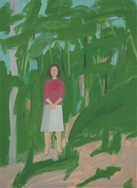 ada in woods by alex katz