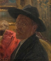 auto-portrait by henri privat-livemont