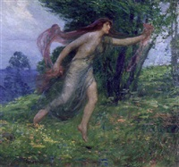 woodland nymph by louis frederick berneker