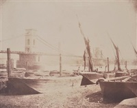 the hungerford suspension bridge by william henry fox talbot