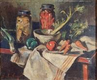 still life of fruits and vegetabls by sander vago