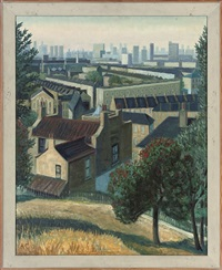 roofs and holly trees, the point, greenwich (+ 2 others; 3 works) by anne e. christopherson