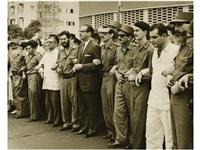 cortejo presidido dorticos torrado y otros miembros del ii frente nacional del escambray, frank hidalgo, elio p. paz by venancio diaz maiquez