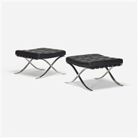 barcelona ottomans (pair) by ludwig mies van der rohe