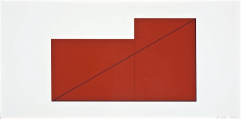 i, iv and vi (from book of silkscreen prints & multiple panel paintings 1973-76) (set of 3) by robert mangold