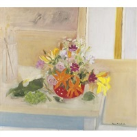 still life with painting table by jane freilicher