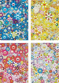 an homage to ikb 1957 c; an homage to mangold 1960 c; an homage to monopink 1960 c; and an homage to yves klein, multicolor c (4 works) by takashi murakami