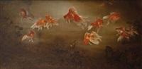 twelve goldfish by lee man fong