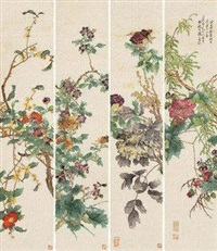 花卉 (in 4 parts) by tang shishu