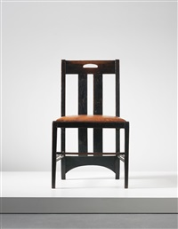 low chair, designed for the white dining room, ingram street tea rooms, glasgow by charles rennie mackintosh