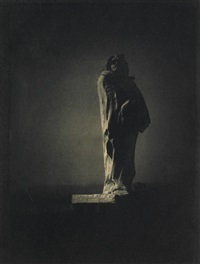 auguste rodin's sculpture of balzac (from camera work 34/35) by edward steichen