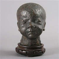 portrait bust of a child by hanne varming