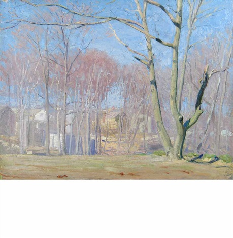a wooded landscape by daniel garber