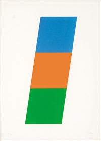blue/red-orange/green (from series of ten lithographs) by ellsworth kelly