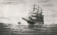 picking up a tow boat (the whaleship 'aurora') by g. gordon arnold