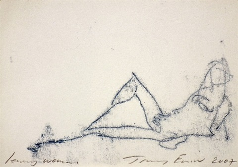 leaning woman by tracey emin