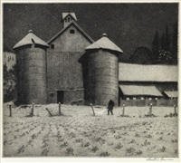 twin silos by martin lewis