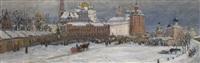 view of the zagorsk monastery by andrei ivanovich dmitriev
