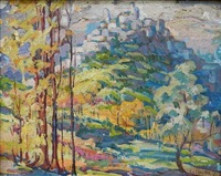 fall landscape by william joseph eastman