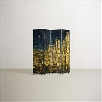 citta de carte folding screen by piero fornasetti