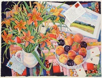 fields, cards and daylilies by susan abbott